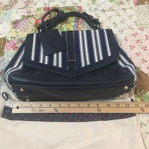Tory Burch ( rare ) canvas with leather satchel